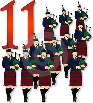 On the Eleventh Day of Christmas: 11 Pipers Piping